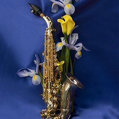 Saxophone and Flowers